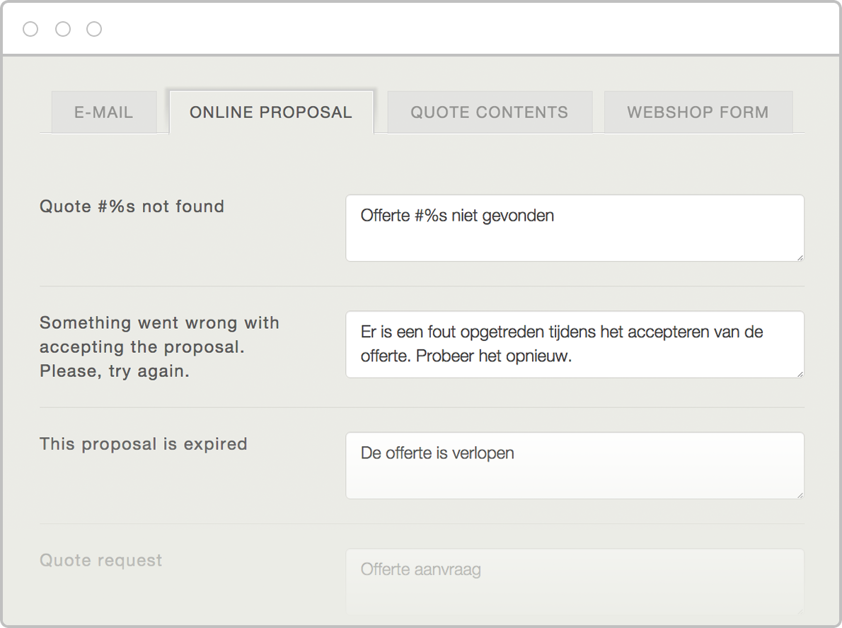 Nice Translate Every Label On Your Proposal